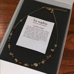 Lia Sophia Jasper necklace